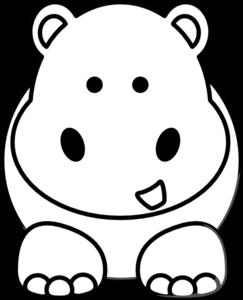 243x300 Cartoon Hippo Clip Art