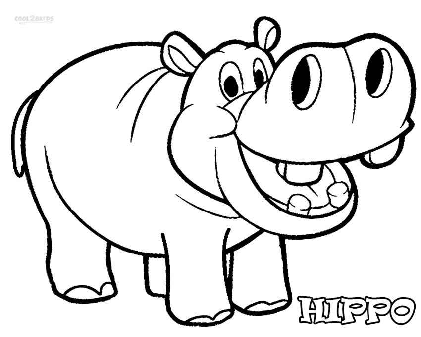 850x682 Cute Hippo Coloring Pages