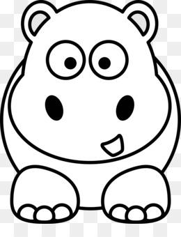 260x340 Free Download Hippopotamus Cartoon Cuteness Drawing Clip Art
