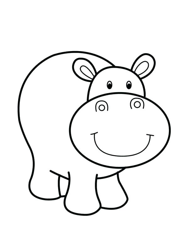 618x785 Baby Hippo Coloring Pages Cute Hippo Baby Coloring Page Cute Baby
