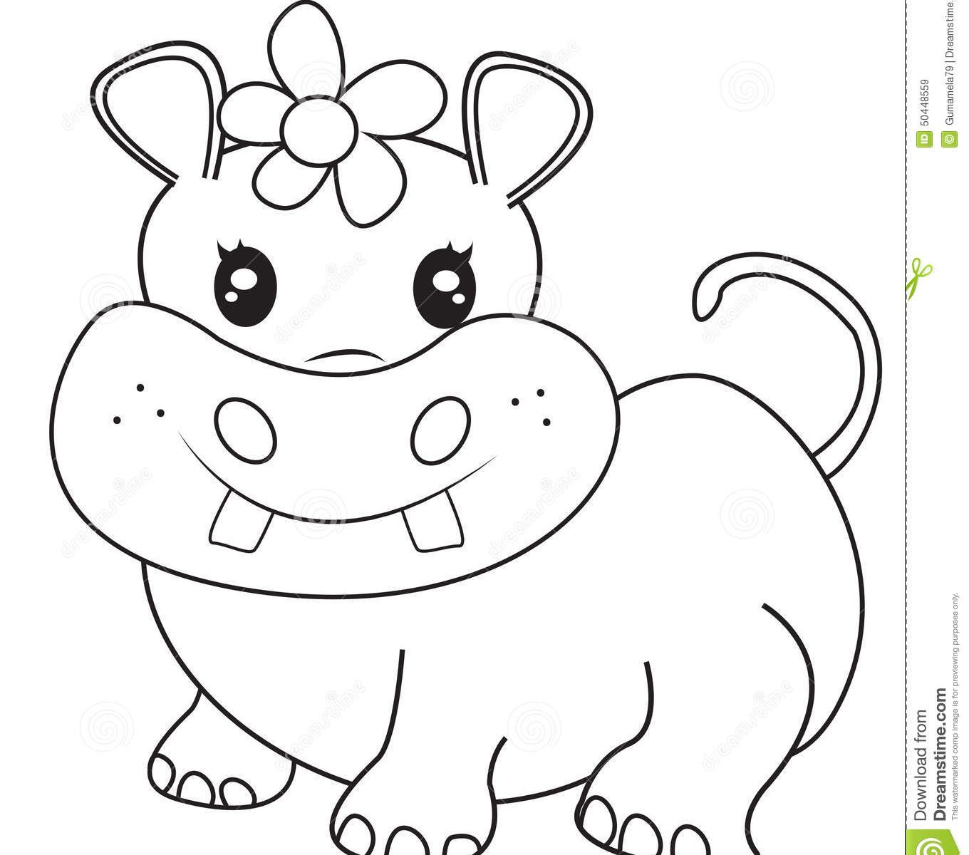 Hippo Drawing at GetDrawings.com | Free for personal use Hippo ...