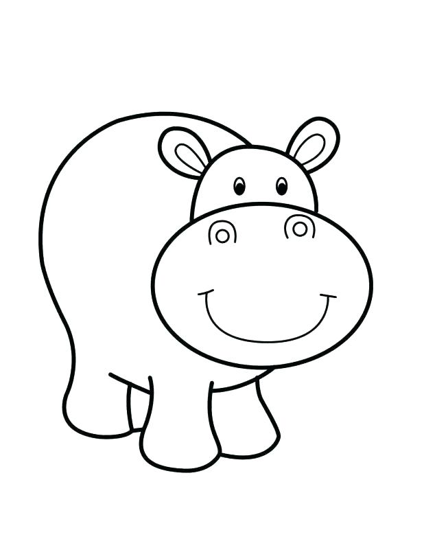 618x785 Hippopotamus Coloring Page Synthesis.site