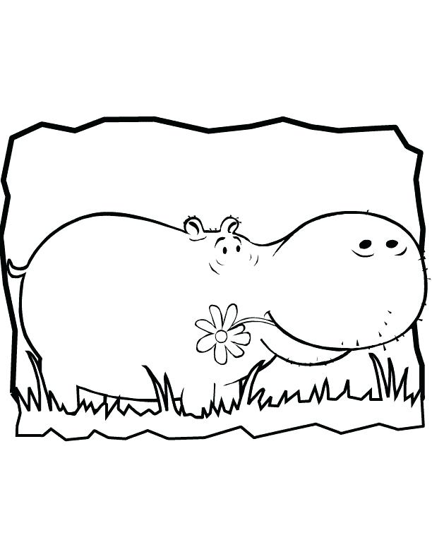 612x792 Hippopotamus Coloring Pages Hippo Coloring Pages For Kids Free