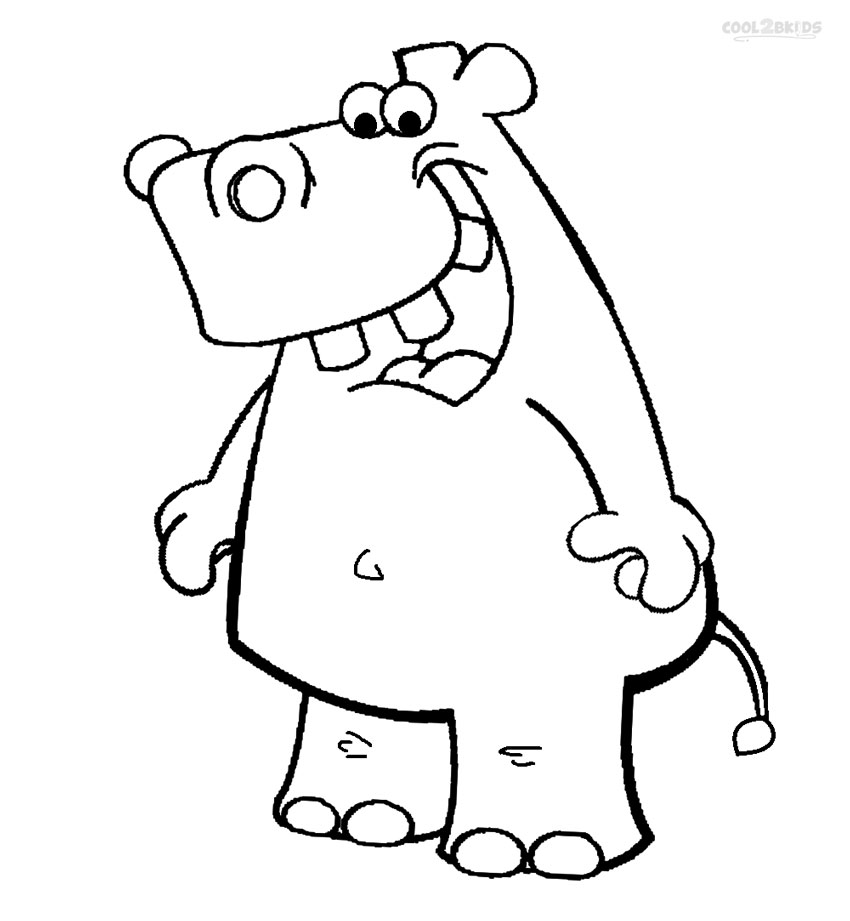 850x921 Printable Hippo Coloring Pages For Kids Cool2bkids
