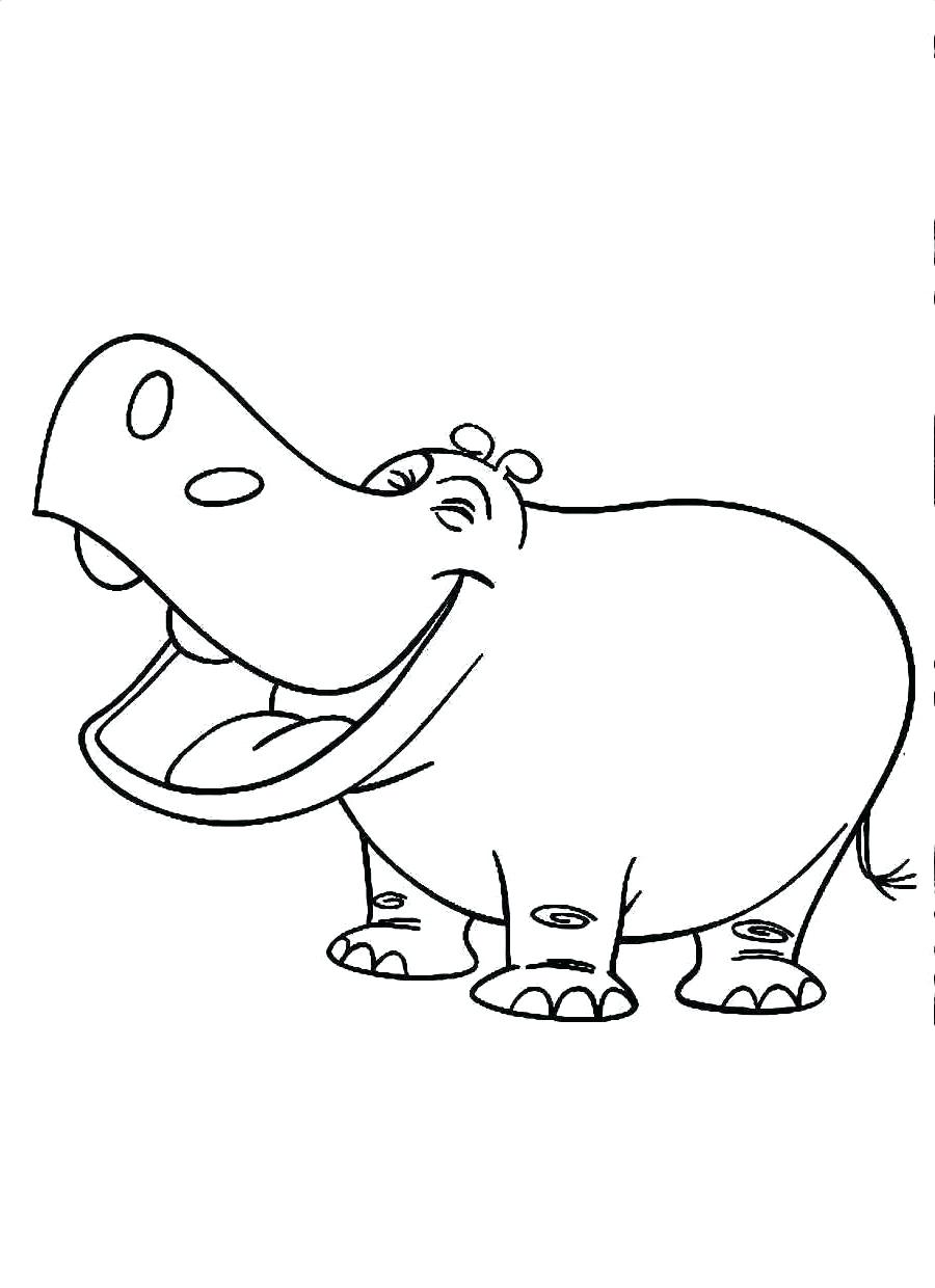 900x1240 Coloring Hippopotamus Coloring Page Free Hippo For Kids Pages