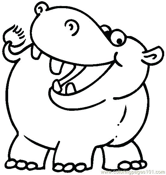 550x578 Baby Hippo Coloring Pages Printable For