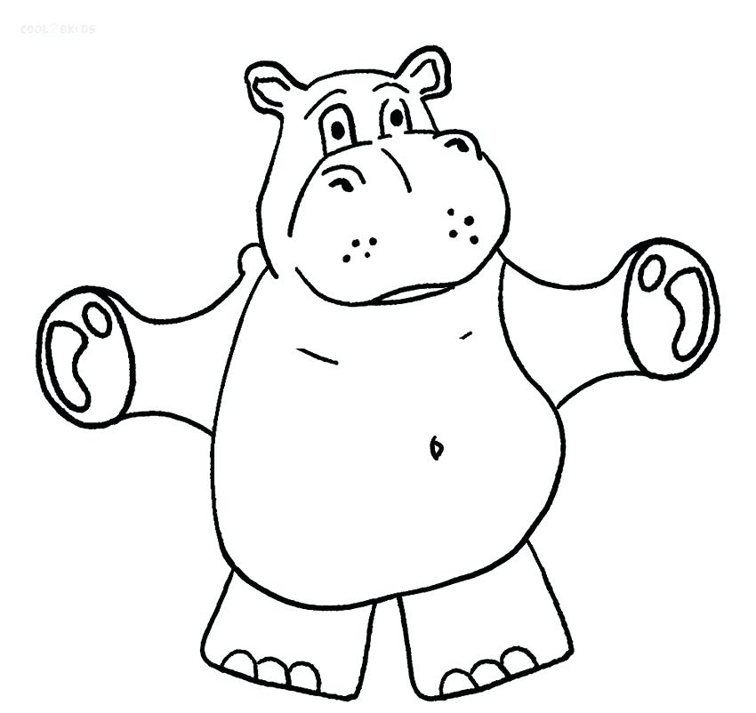 850x802 Baby Hippo Coloring Pages Hippo Coloring Pages For Kids Cute Baby