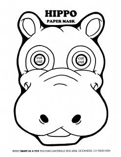 Hippo Face Drawing