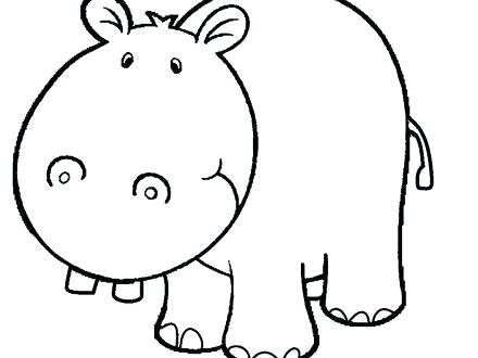 440x330 Hippo Coloring Page Hippo Face Coloring Pages Hippo Face Coloring