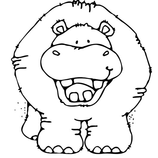 530x528 Hippo Coloring Pages Download
