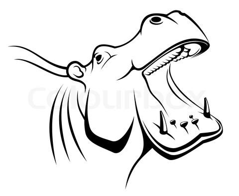 480x393 Hippo Line Hippo Happiness