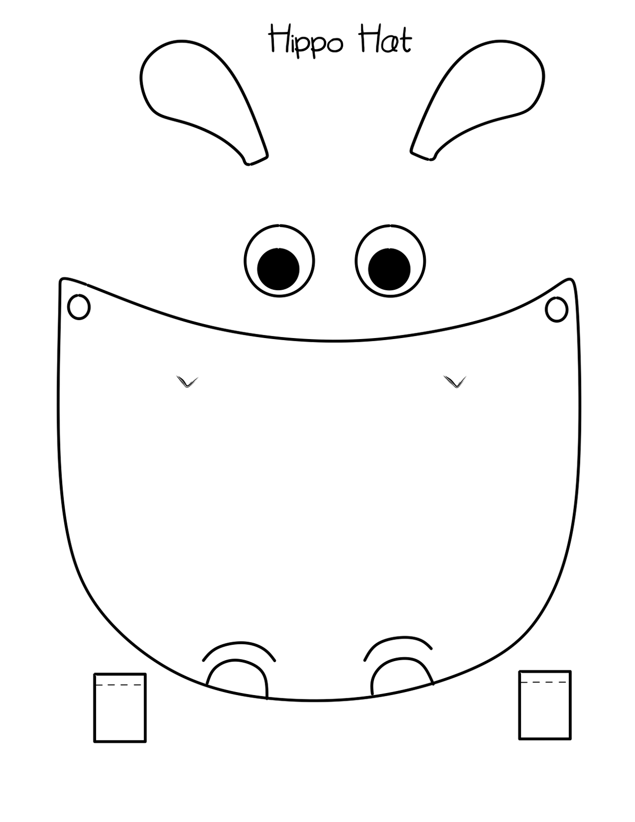 1236x1600 Bust Out Your Crayons Hippo Hat Free Printable Hippo Party