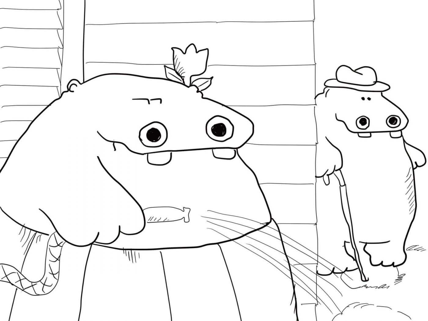 1400x1050 Free Printable Hippo Coloring Pages For Toddler Animals Cute Pygmy