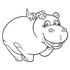 230x230 Hippo Coloring Pages Colouring In Cure Print Page Printable
