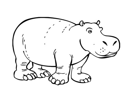 440x330 Printable Hippo Coloring Pages Coloring Me, Hippopotamus Coloring
