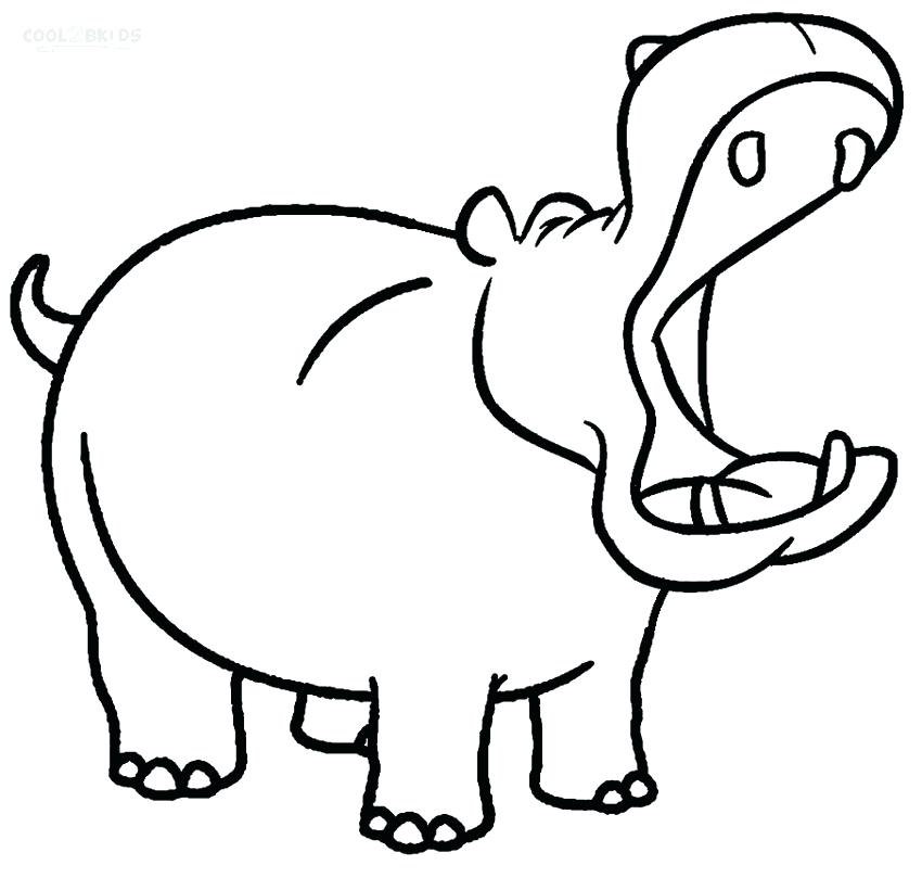 850x809 Baby Hippo Coloring Pages Hippo Coloring Pages For Kids Cute Baby