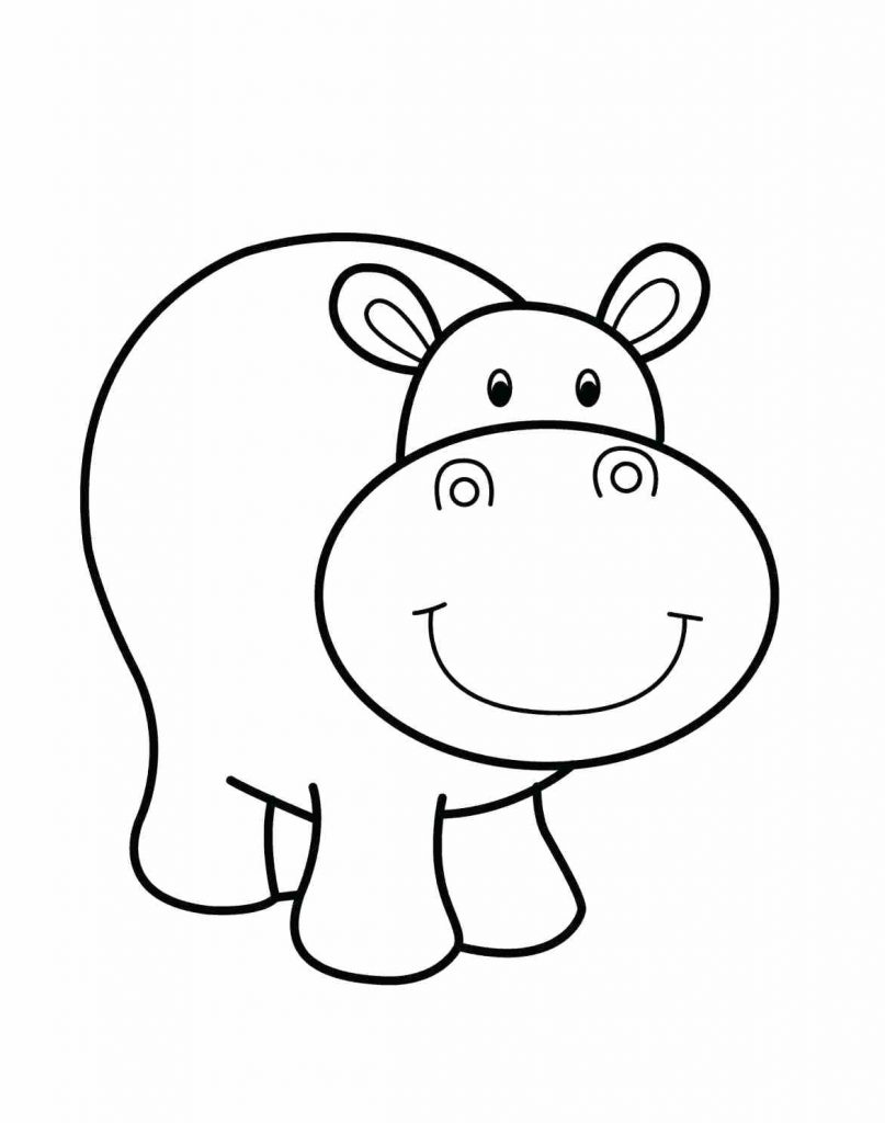 807x1024 Hippo Coloring Pages Printable Free Sheets Animals Cute Baby Stock