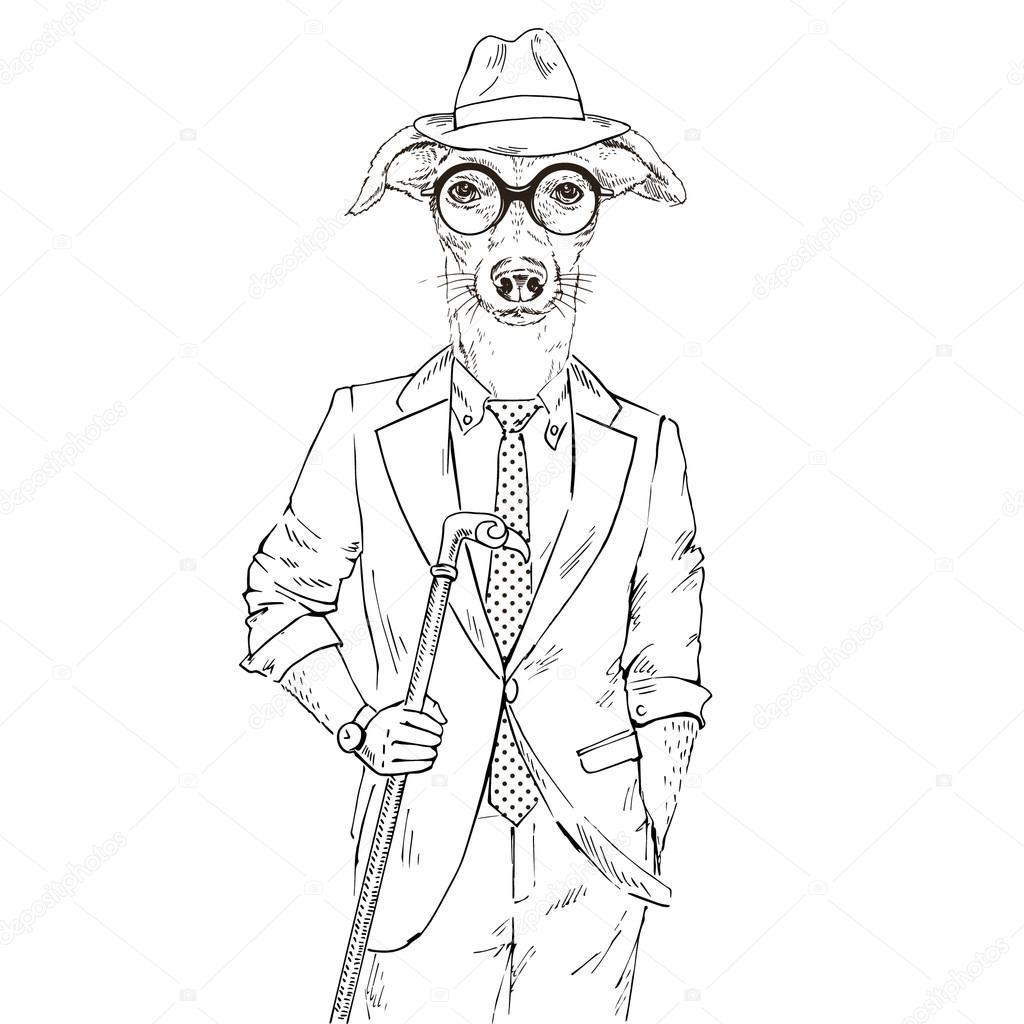 1024x1024 Whippet Boy Hipster Stock Vector Olga.angelloz