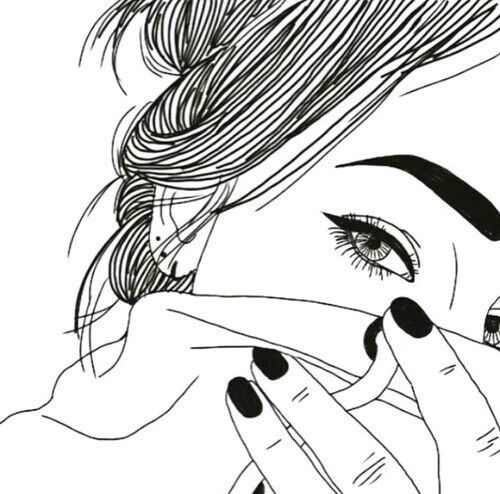 500x494 58 Best Tumblr Outlines Images On Girl Drawings