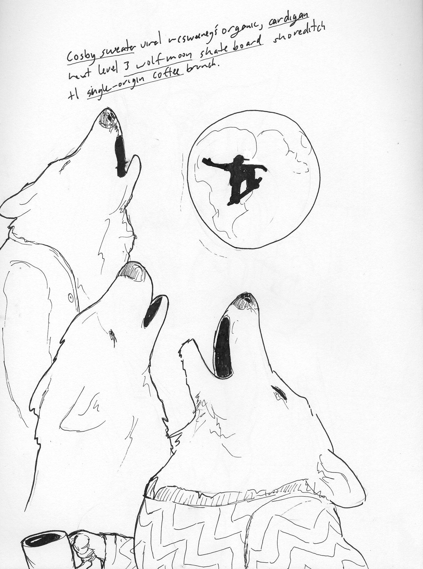 1344x1808 Three Wolf Sweaters Desksketch