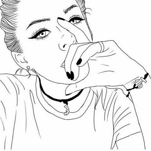 480x480 Outline, Outlines, Tumblr Girl, Illustration, Drawing Tumblr