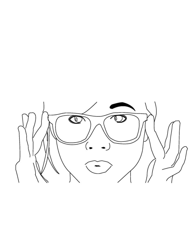 786x1017 Hipster Girl Line Art By Fosterthepeople32