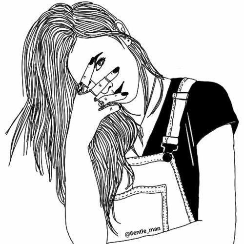 500x500 62 Best Tumblr Images On Girl Drawings, Outline Art