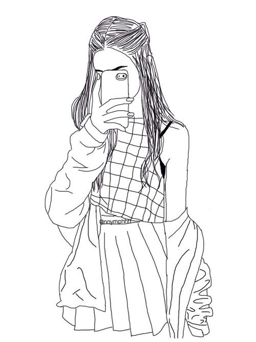 500x667 Pin By Iga Olczak On Szare Rysunki Drawings, Girl