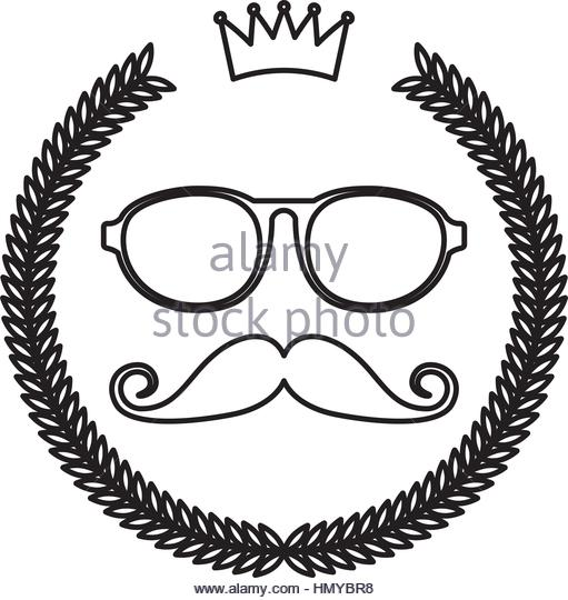 511x540 Wreath Frame Mustache Glasses Hipster Stock Photos Amp Wreath Frame
