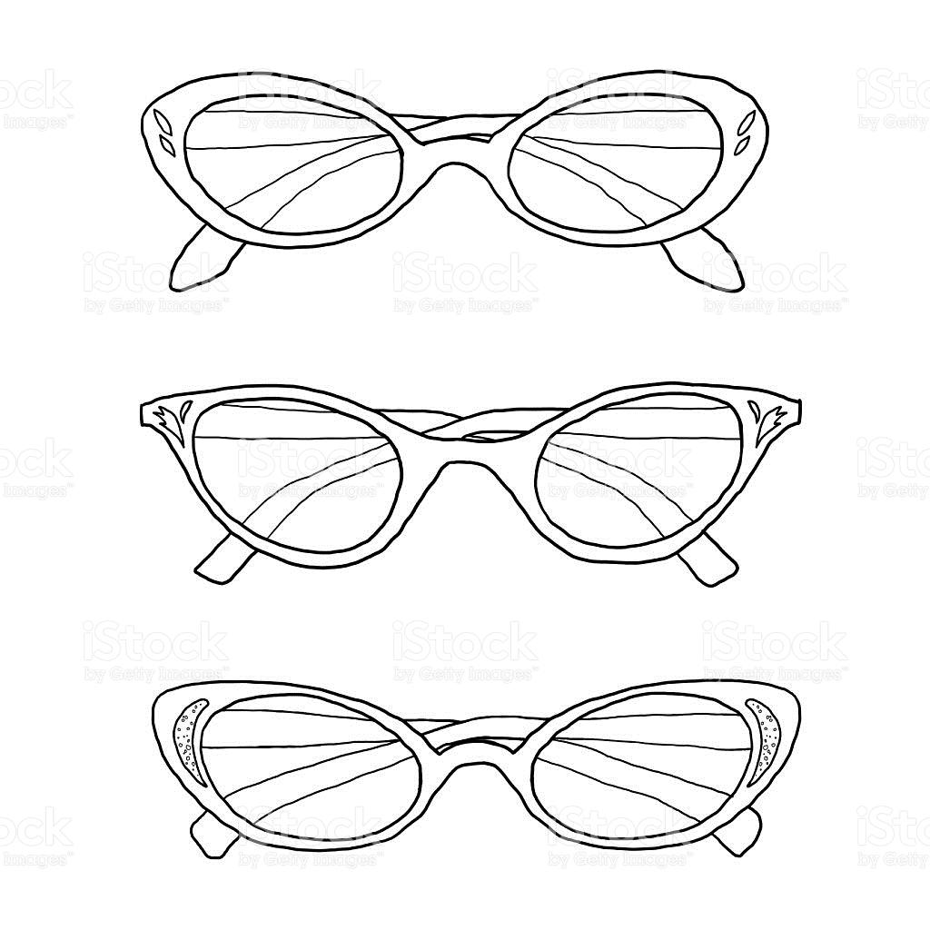 1024x1024 Drawn Goggles Glass Object