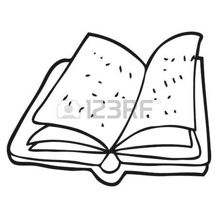 450x450 Freehand Drawn Black And White Cartoon History Book Royalty Free