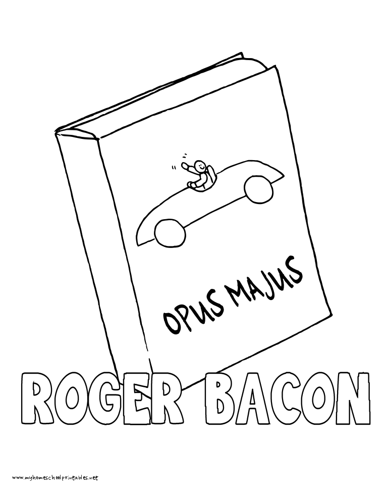 765x990 World History Coloring Pages Printables Roger Bacon Book Roger