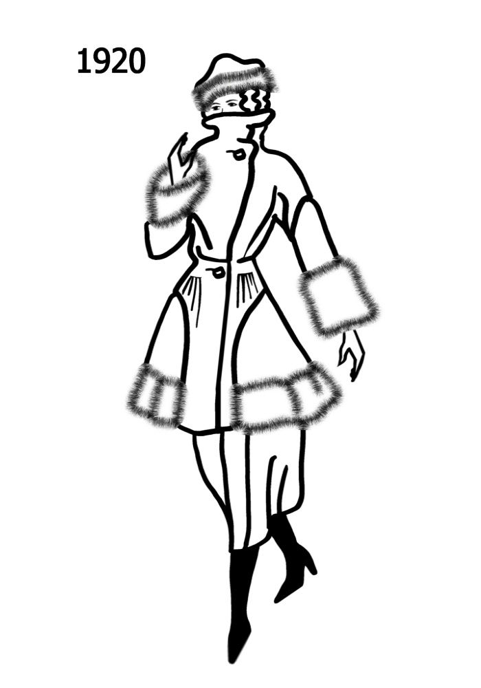 700x1000 Costume History Silhouettes 1920 1921 Free Line Drawings 1920s