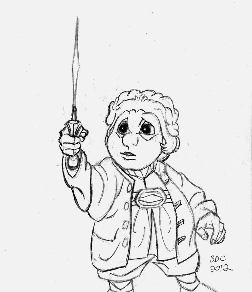 830x962 Rankin Bass Hobbit Bilbo Finds Sting By Becdecorbin