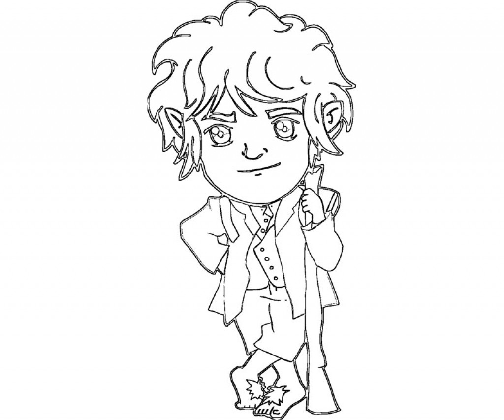 1024x853 The Adventurous Bilbo Baggins From The Hobbit Coloring Page