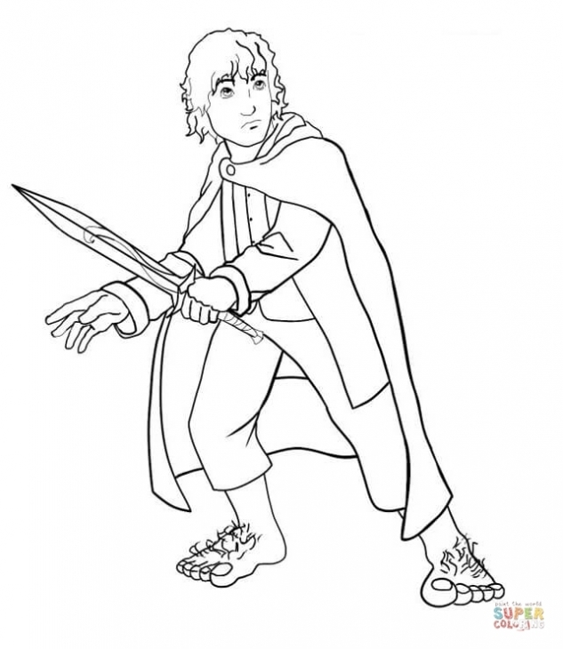633x730 Frodo The Little Hobbit In Lord Of The Rings Online Coloring Sheet