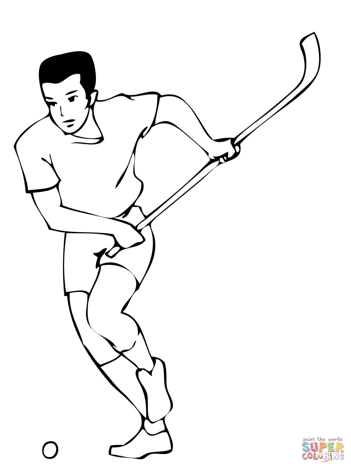 1200x1600 Field Hockey Player Coloring Page Free Printable Coloring Pages