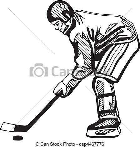 448x470 Hockey Clip Art Vector