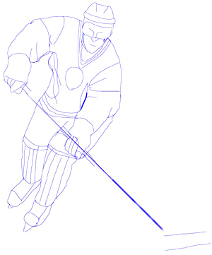 300x361 How To Draw A Hockey Player