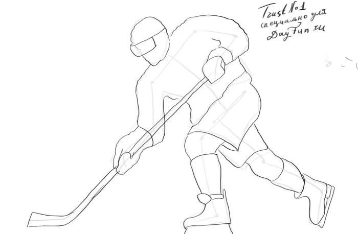 700x458 How To Draw A Hockey Player Step By Step