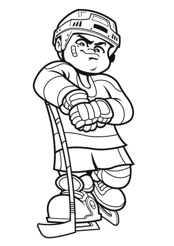 600x847 Best Hockey Player Coloring Page
