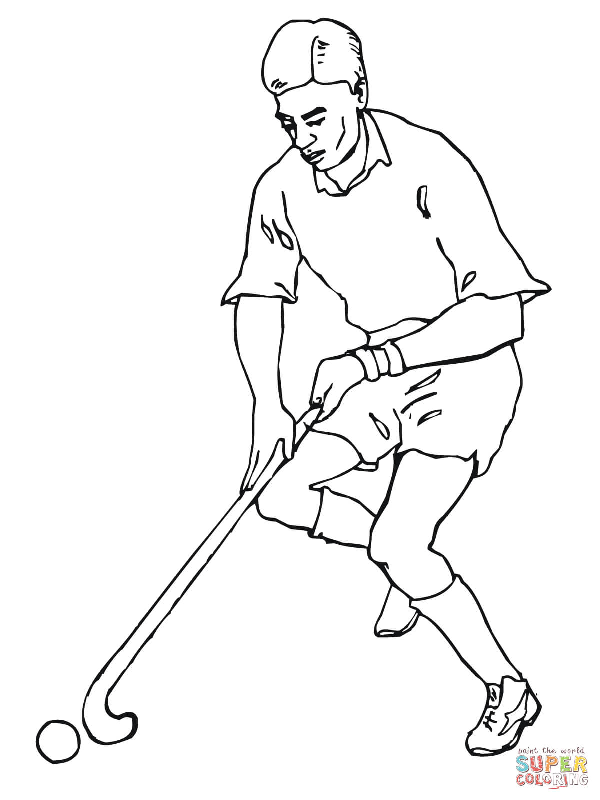 1200x1600 Playing Field Hockey Coloring Page Free Printable Coloring Pages