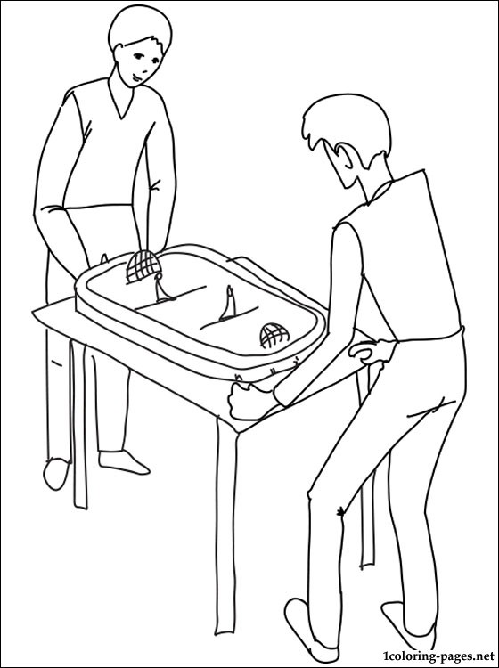 560x750 Table Hockey Coloring Page Coloring Pages