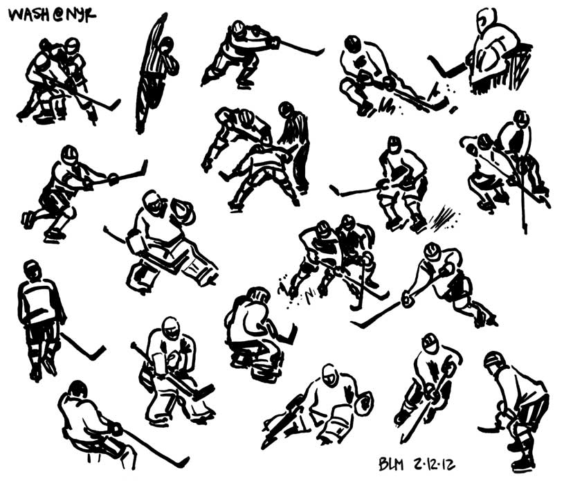 815x695 Drawn Out Days Hockey Sketches