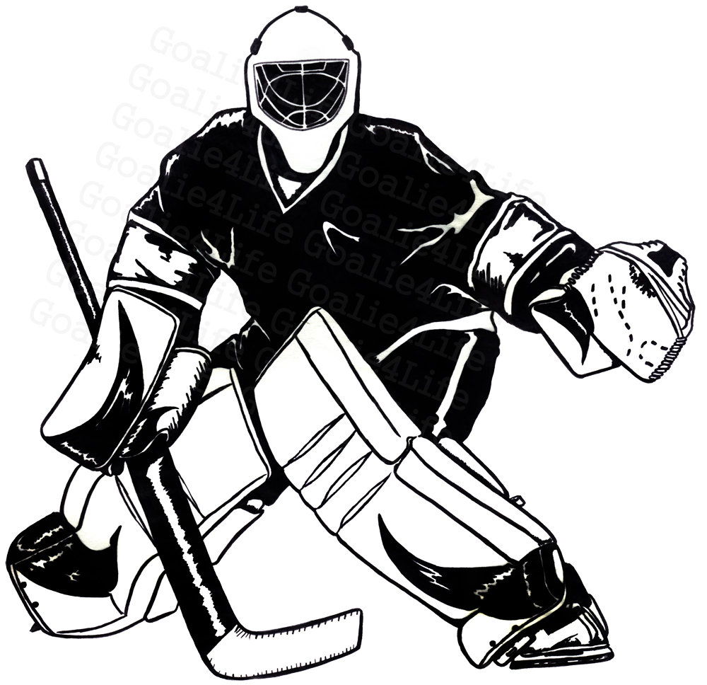 1000x968 Goalie Black And White By Goaligrltildeath