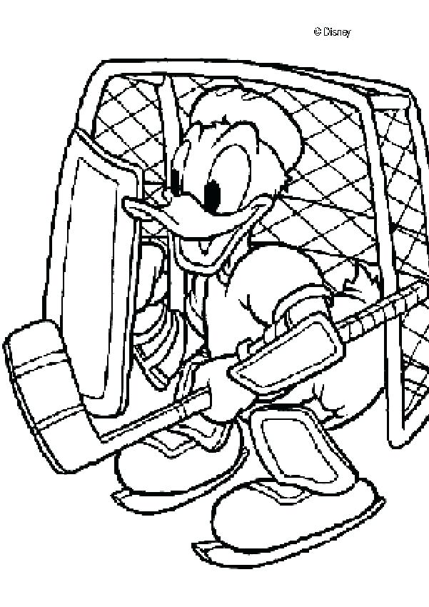 601x850 Hockey Coloring Pages Daisy Duck Making Pancakes Duck As A Hockey