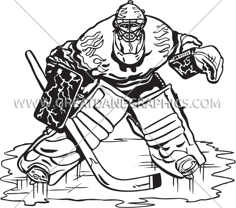825x725 Hockey Goalie Production Ready Artwork For T Shirt Printing