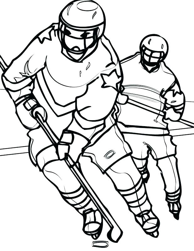 618x800 Nhl Coloring Book As Well As Hockey Coloring Pages Free Coloring