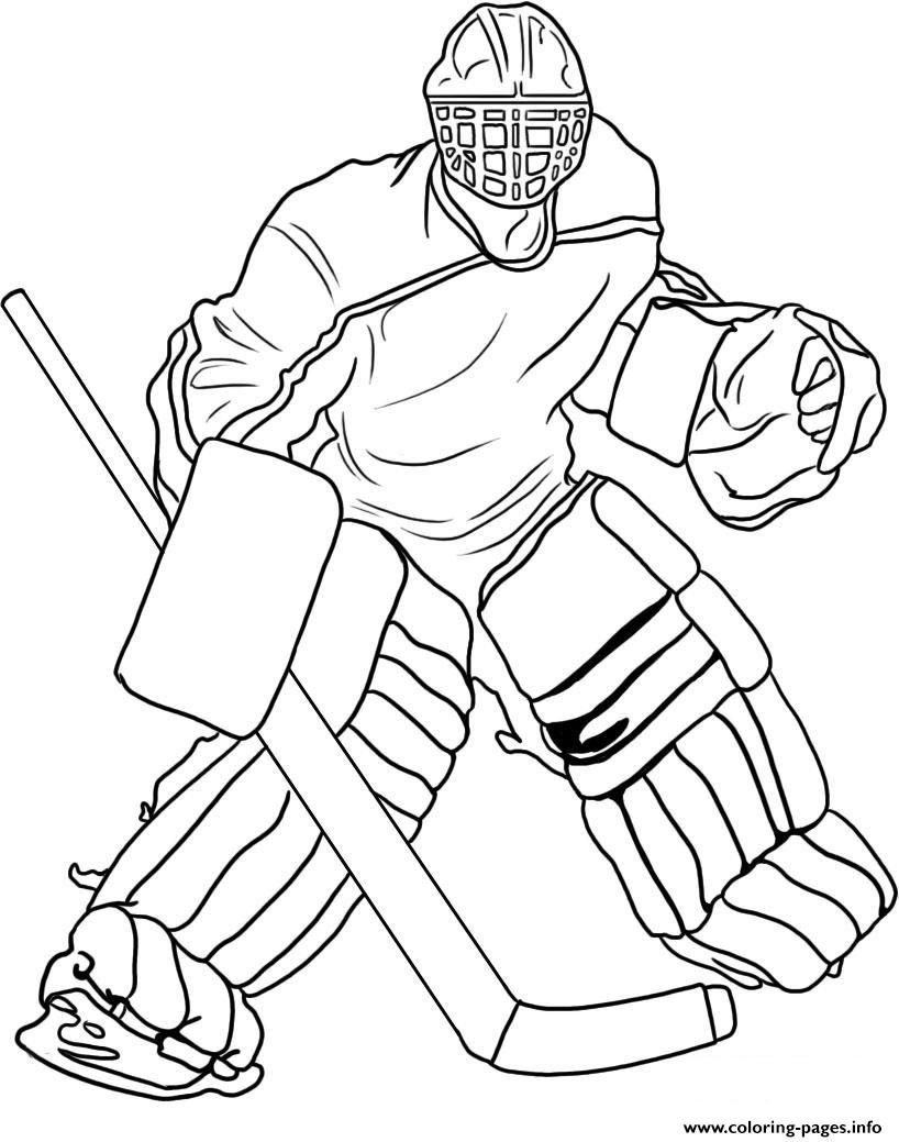 818x1039 Print Hockey Goalie Coloring Pages Coloring Hockey