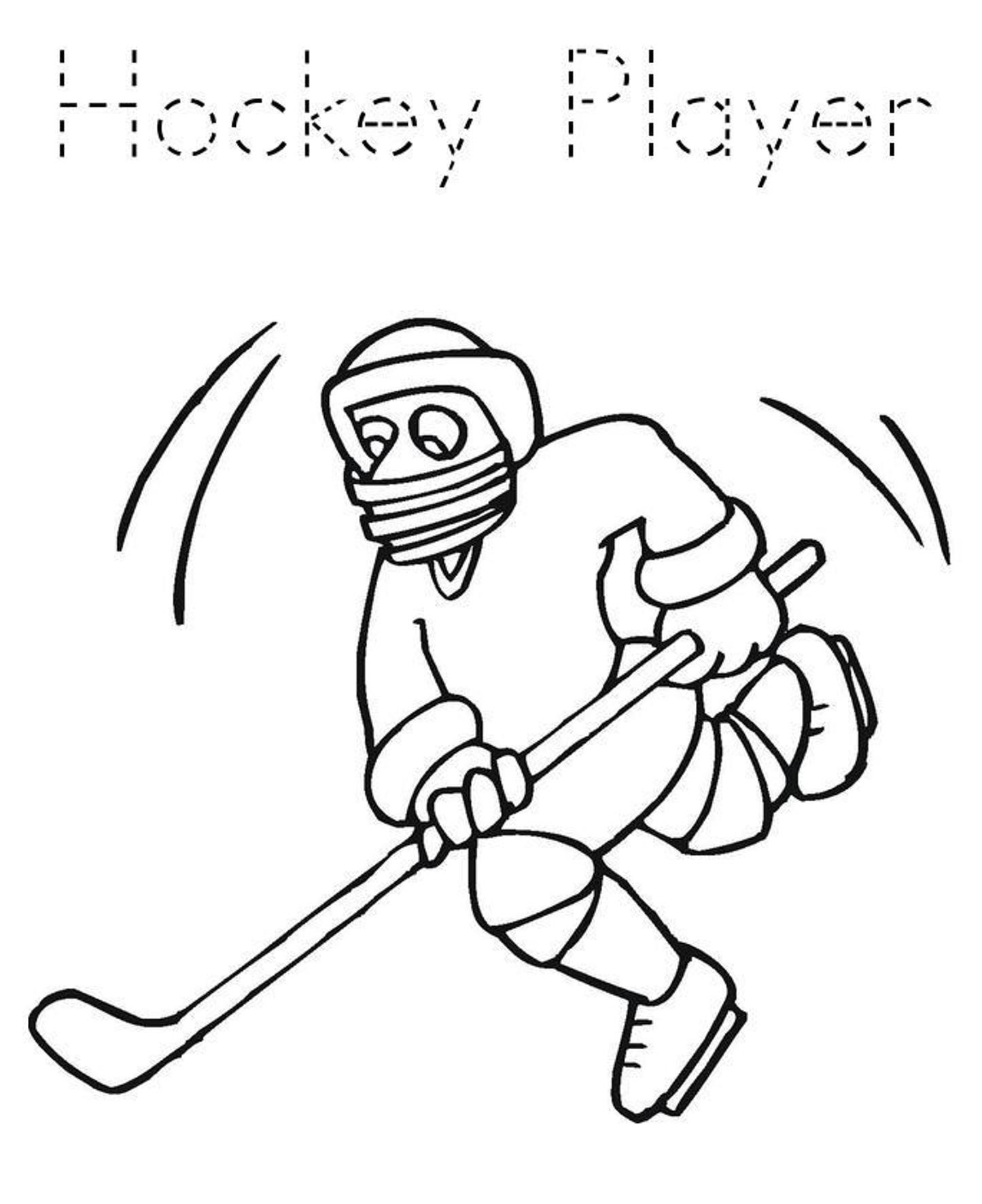 1445x1772 Hockey Coloring Pages Goalie Free Draw To Color